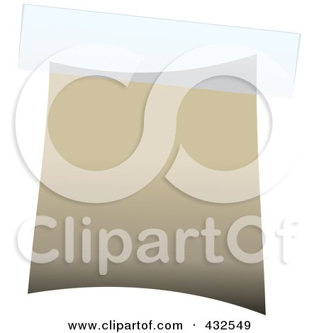 Royalty-Free (RF) Clipart Illustration of a Blank Beige Label With Tape - 1 by michaeltravers