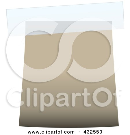 Royalty-Free (RF) Clipart Illustration of a Blank Beige Label With Tape - 2 by michaeltravers