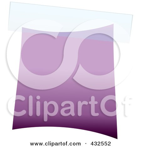 Royalty-Free (RF) Clipart Illustration of a Blank Purple Label With Tape by michaeltravers