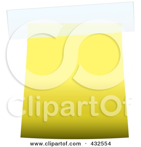 Royalty-Free (RF) Clipart Illustration of a Blank Yellow Label With Tape by michaeltravers