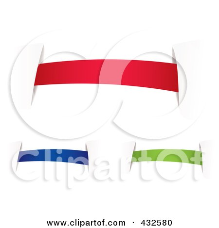 Royalty-Free (RF) Clipart Illustration of a Digital Collage Of Colorful Blank Banners With Tape - 2 by michaeltravers