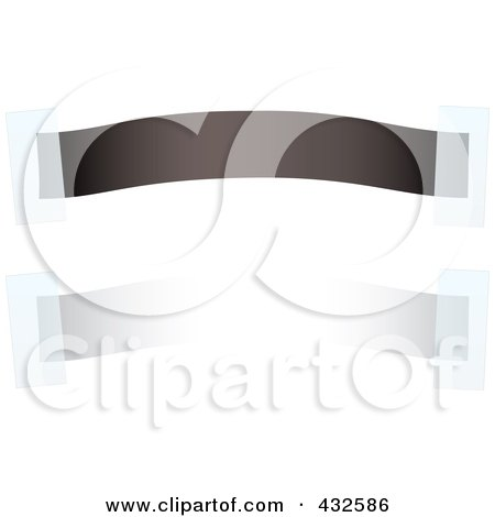 Royalty-Free (RF) Clipart Illustration of a Digital Collage Of Black And White Blank Banners With Tape by michaeltravers