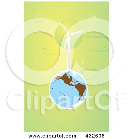 Wind Turbine On Earth In Outer Space Posters, Art Prints