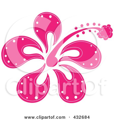 Royalty-Free (RF) Clipart Illustration of a Pretty Pink ...