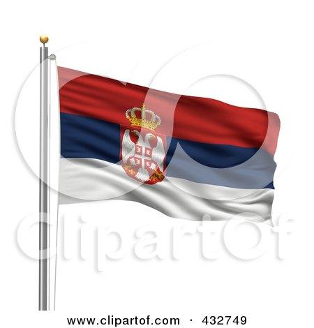 Eurovisión 2011 - Página 3 432749-Royalty-Free-RF-Clipart-Illustration-Of-The-Flag-Of-Serbia-Waving-On-A-Pole