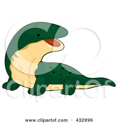 Royalty-Free (RF) Clipart Illustration of a Cute Baby Komodo Dragon by BNP Design Studio