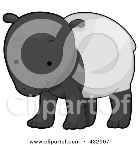 Royalty Free Rf Clipart Illustration Of A Cute Baby Tapir By Bnp Design Studio 432907