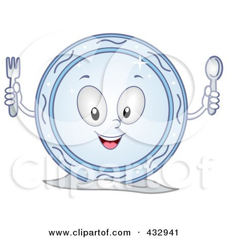 Royalty-Free (RF) Clipart of Plates, Illustrations, Vector Graphics #1