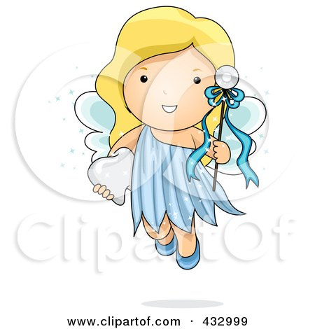Cute Tooth Fairy With A Wand Posters, Art Prints