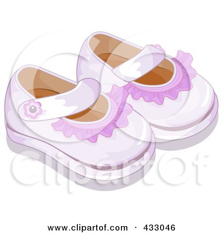 Royalty-Free (RF) Clipart Illustration of a Pair Of White Baby Shoes ... 6eec7704ff