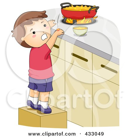 Royalty-Free (RF) Clipart Illustration of a Boy Burning His Hand ...
