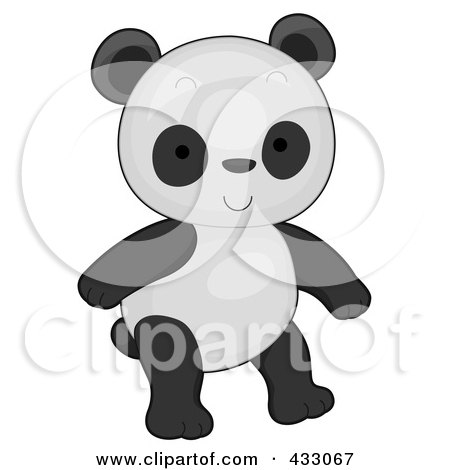 Royalty-Free (RF) Clipart Illustration of a Cute Baby Panda by BNP Design Studio