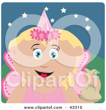 Caucasian Girl Trick Or Treating On Halloween In A Fairy Princess Costume Posters, Art Prints