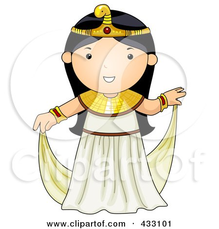 Royalty-Free (RF) Clipart Illustration of an Egyptian Girl by BNP Design Studio