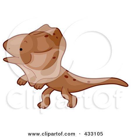 Royalty-Free (RF) Clipart Illustration of a Cute Baby Frilled Lizard by BNP Design Studio