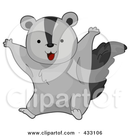 Royalty-Free (RF) Clipart Illustration of a Cute Baby Flying Squirrel by BNP Design Studio