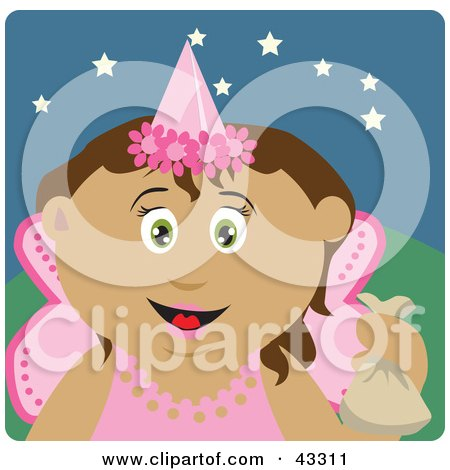 Latin American Girl Trick Or Treating On Halloween In A Fairy Princess Costume Posters, Art Prints