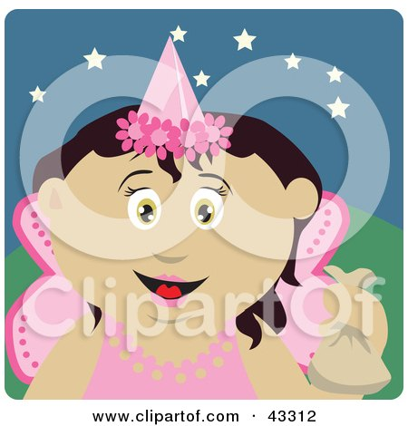 Mexican Girl Trick Or Treating On Halloween In A Fairy Princess Costume Posters, Art Prints
