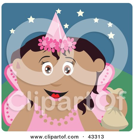 Hispanic Girl Trick Or Treating On Halloween In A Fairy Princess Costume Posters, Art Prints