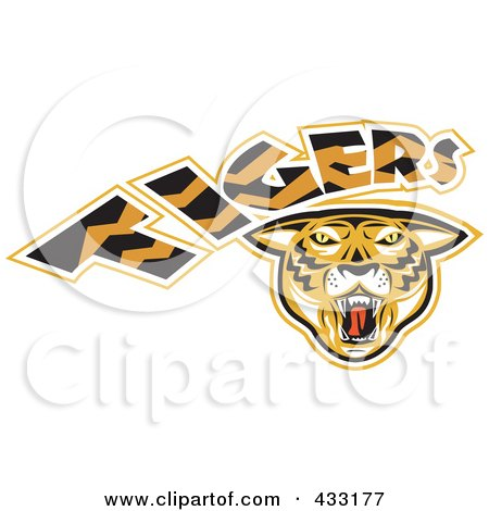 Royalty-Free (RF) Clipart Illustration of a Tigers Logo - 2 by patrimonio