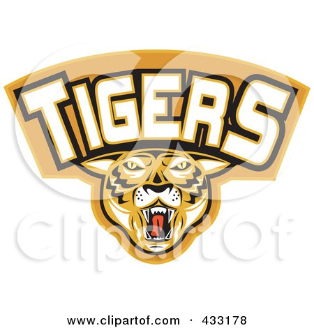 Royalty-Free (RF) Clipart Illustration of a Tigers Logo - 1 by patrimonio