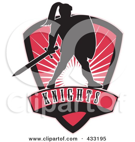 Royalty-Free (RF) Clipart Illustration of a Knights Logo - 1 by patrimonio