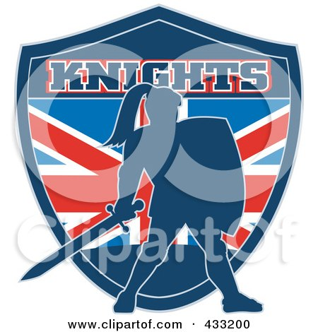 Royalty-Free (RF) Clipart Illustration of a Knights Logo - 3 by patrimonio