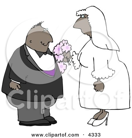 Ethnic Couple Getting Married Clipart by djart