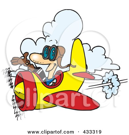 Royalty-Free (RF) Clipart Illustration Of A Happy Pilot by toonaday