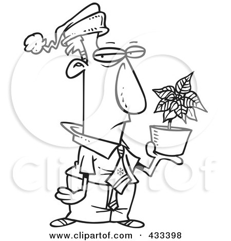 3 additionally Coloring Page Line Art Of A Grumpy Employee Holding A Poinsettia Christmas Bonus 433398 moreover Corner Decoration Clipart furthermore Poinsettia Border Black And White in addition Spring Primroses Card Space Text Round 554229082. on poinsettia clip art transparent