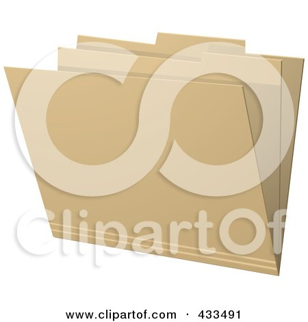 Royalty-Free (RF) Clipart Illustration Of A 3d Brown Manila Folder by elaineitalia