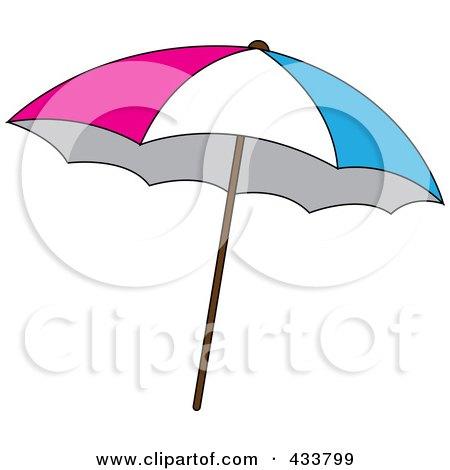 royalty-free (rf) clipart illustration of an orange beach umbrella