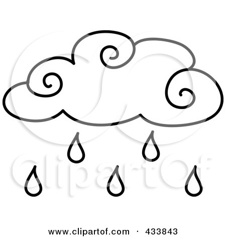 Clip Art Rain Cloud. Royalty-Free (RF) Clipart