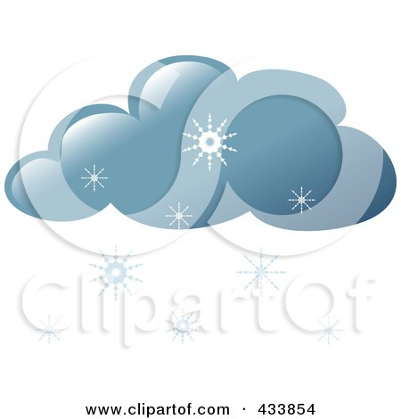 Royalty-Free (RF) Clipart Illustration of a Snow Cloud by Pams Clipart