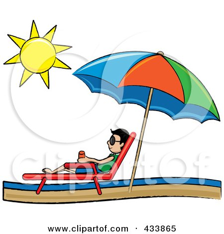 Clipart Beach Lounge Chairs Under A Straw Umbrella Facing Towards – Lounge Chair Umbrella