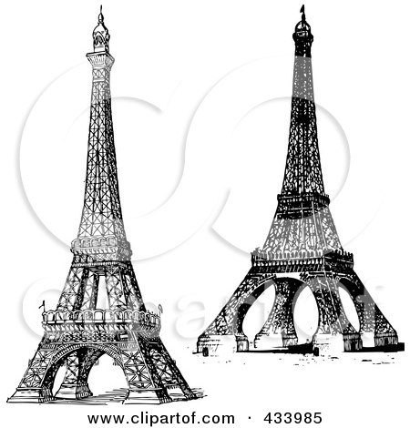 eiffel tower sketch. Of The Eiffel Tower
