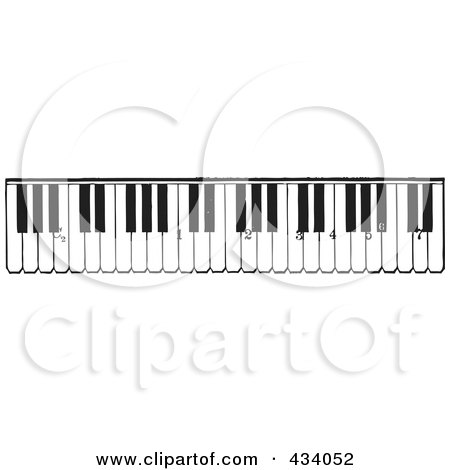 Vintage Black And White Grand Piano Sketch 2 434049 on small digital piano