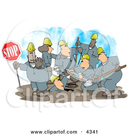 Construction Crew Clipart by Dennis Cox
