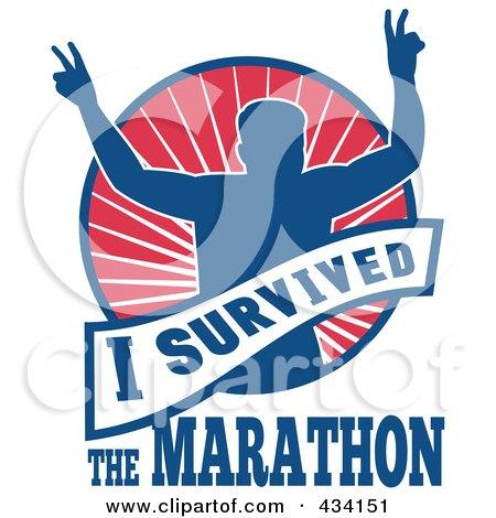Royalty-Free (RF) Clipart Illustration of a Marathon Run Icon - 1 by patrimonio