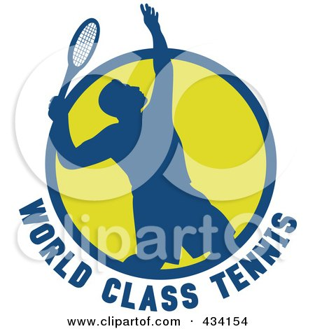 Royalty-Free (RF) Clipart Illustration of a World Class Tennis Player Icon by patrimonio