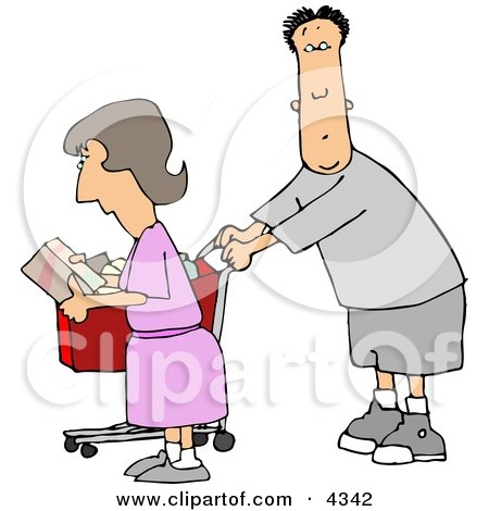 Husband and Wife Grocery Shopping Posters, Art Prints