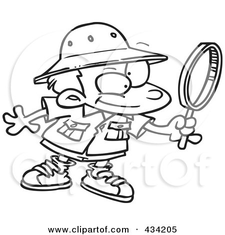 Bunny Has Magnifying Glass coloring page / picture | Super Coloring