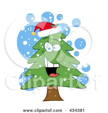 Royalty-Free (RF) Clipart Illustration of a Pine Tree - 8 by Hit Toon