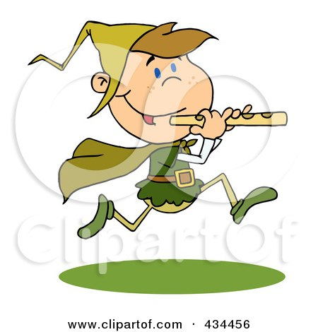 Royalty-Free (RF) Clipart Illustration of a Piper Piping by Hit Toon