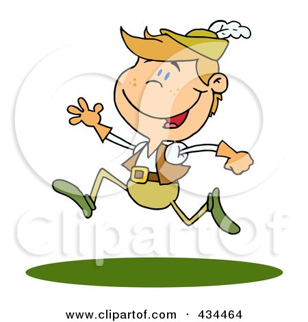 Royalty-Free (RF) Clipart Illustration of a Lord Leaping by Hit Toon
