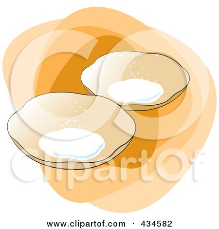Royalty-Free (RF) Clipart Illustration of Sri Lankan Hoppers Food by Lal Perera