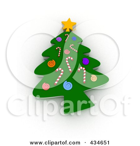 Royalty-Free (RF) Clipart Illustration of a 3d Cookie Christmas Tree by BNP Design Studio
