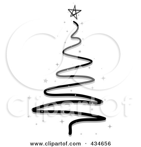 Royalty-Free (RF) Clipart Illustration of a Black Scribble ...