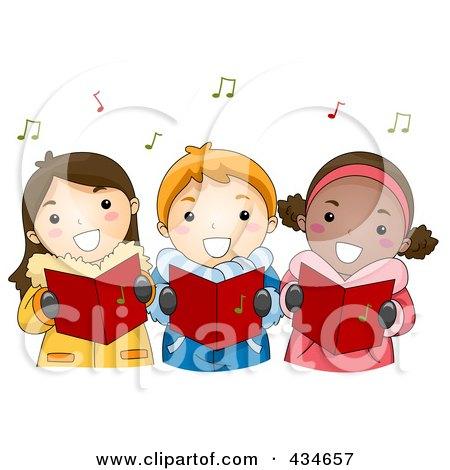 Christmas Carols on Illustration Of Christmas Kids Singing Carols By Bnp Design Studio