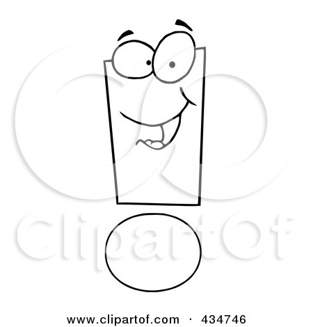 Royalty-Free (RF) Clipart Illustration of an Exclamation Point Character - 1 by Hit Toon